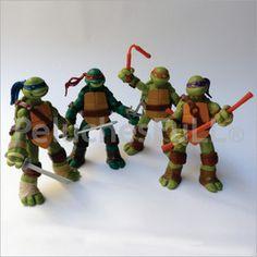 CÓDIGO: NDY363-S Colección tortugas ninja figuras coleccionables x 4 unidades. Donatello, Leonardo, Michelangelo y Raphael.