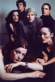 The Factory: Andy Warhol, Jackie Curtis, Holly Woodlawn, Paul Morrissey, Joe Dallesandro & Jane Forth.