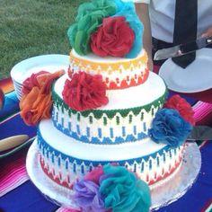 Mexican Theme Wedding Cake