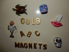 Gold ABC's magnets! Kelsey's Craft Corner