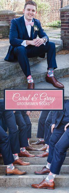 New Wedding Suits Men Black Groomsmen Pink Ties Ideas Wedding Favours Magnets, Wedding Favors For Men, Wedding Men, Wedding Suits, Trendy Wedding, Wedding Dress, Coral Groomsmen, Groomsmen Socks, Groom And Groomsmen