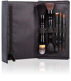 Kevyn Aucoin Women's The Travel Brush Set WHAT IT IS A curated selection of our favorite brushes customized for travel WHY WE LOVE IT Kevyn Aucoin must-have brush favorites for a flawless full face application 5 double ended brushes Compact, durable and travel friendly THINGS TO KNOW Made with a variety of natural and synthetic brush hairs Brush for every product category (face, eye, cheek and lip) INCLUDES Foundation and Loose Powder brush Buff and Blush brush Base shadow and Small shadow…