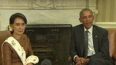 Obama Meets with Myanmar's State Counsellor