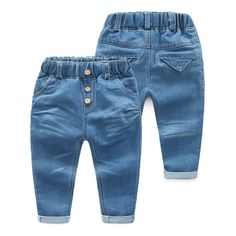 Cheap baby jeans, Buy Quality children jeans directly from China pants children jeans Suppliers: Baby Three Button Jeans 2017 Spring Clothes New Pattern Catamite Children's Garment Children Haren Pants Tide Baby Jeans, Girls Jeans, Spring Clothes, Spring Outfits, Cheap Jeans, Trousers, Pants, Toddler Boys, Bermuda Shorts