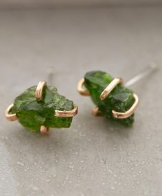 This green rustic stone earring is unique and you don't see something like this every day. #greenrusticearrings #greenearring Organize your jewelry in a jewelry armoire