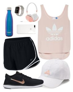 """""""Run around the park"""" by kamdanielson on Polyvore featuring adidas, S'well, Frends and NIKE"""