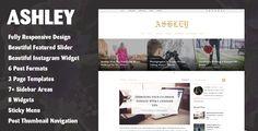 Ashley - A WordPress Blog Theme (Blog / Magazine) - http://creativewordpresstheme.com/ashley-a-wordpress-blog-theme-blog-magazine/