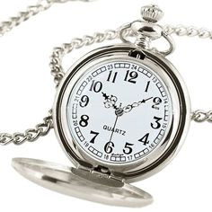 Cheap watch machine, Buy Quality pendant watch directly from China watches target Suppliers: Women Men Smooth Quartz Pocket Watch Necklace Pendant GIft Black/Silver Quartz Pocket Watch, Silver Pocket Watch, Quartz Watch, Modern Pocket Watch, Vintage Pocket Watch, Fossil Watches For Men, Cool Watches, Steampunk Pocket Watch, Pocket Watch Necklace
