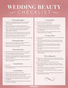 Your ultimate wedding beauty checklist — pin now, thank yourself later!