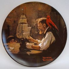 Norman Rockwell Collector Plate The Ship by theowlsnestofnc.