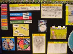 Counting on Calendar! lots of ideas for math and reading with this calendar time