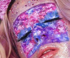 Bodypainting by @leonieandlavender on Instagram Midsummer Dream, Beauty Make Up, Carnival, Lavender, Floral, Face, Instagram, Body Painting, Carnavals