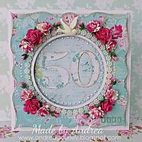 Romance and Roses 50th Card