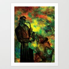 The Colors of Sax Art Print by David Lee Graphic Artist - $22.88