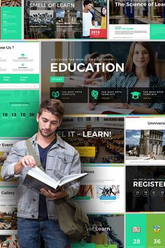 Education Presentation Powerpoint Template is a modern and creative powerpoint template built for multipurpose presentation. This is a wonderful template that Powerpoint Themes, Powerpoint Presentation Templates, Keynote Template, Brand Presentation, Corporate Presentation, Pptx Templates, Best Templates, Social Media Design, Web Design