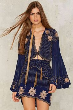 Nasty Gal Collection Bead Your Love Tassel Jacket - Clothes | Two Piece Sets | Nasty Gal Collection | Fall Bohemia | Blazers + Capes | Jackets + Coats