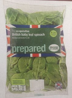 Co-op British baby leaf spinach wrapped in #unnecessaryunionjacks - thanks to @Dehyphenated via Twitter