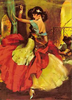 flamenco ~ Love the hair! And the colours in the dress :)
