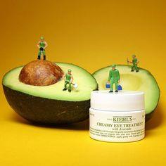 Kiehl's Creamy Eye Treatment with Avocado: This creamy preparation with Avocado Oil, gently moisturizes the delicate eye area.