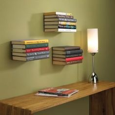Get your books organized, create a unique wall art design element and keep your floor space clutter free with floating shelves. Not to mention these are much more affordable than a traditional standing bookshelf which can either be hundreds of dollars or cheaply made.