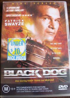 Patrick Swayze Meat Loaf BLACK DOG - HIGH SPEED ACTION THRILLER DVD