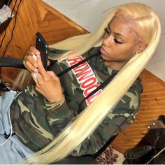 Follow: @Tropic_M for more ❄️ Quick Weave Hairstyles, Baddie Hairstyles, Black Girls Hairstyles, Pretty Hairstyles, Straight Hairstyles, Cute Hair Colors, Blonde Hair Girl, Barbie Hair, Goddess Hairstyles