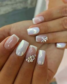 Nails Only, Love Nails, Pretty Nails, Manicure, Gel Nails, Romantic Nails, Bridal Nail Art, Wedding Nails Design, Luxury Nails
