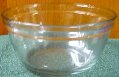 Anchor Hocking  Clear Mixing Bowl  2.5 Quart by pittsburgh4pillows, $4.50