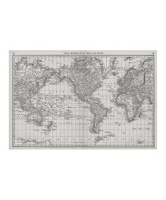 Want happy home pinterest mapamundi ideas interiores y take a look at this black white 1879 world atlas map adhesive print on zulily gumiabroncs Choice Image