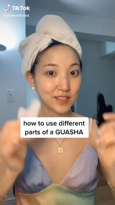 Beauty Tips For Glowing Skin, Beauty Skin, Asian Makeup Natural, Facial Yoga, Skin Care Routine Steps, Facial Exercises, Gua Sha, Face Massage, Healthy Skin Care