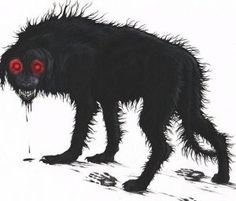 Black Shuck is one of the most well-known encounters with a hellhound or a black dog. Much like the White Things of American folklore, black dogs are European symbols of death and ill omen. Black Shuck itself has become iconic on the British Isles.