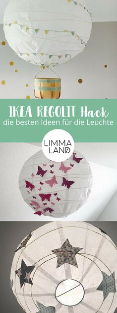 IKEA REGOLIT Hack - so schön kann die einfache Deckenleuchte sein The round IKEA REGOLIT is a true classic. Certainly the round paper light hangs somewhere with you! And the simple ceiling ligh