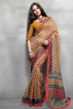 Mustard Yellow Super Net Saree With Cotton Blouse Price: £29 Mustard Yellow,Super Net saree with mustard yellow, cotton blouse.Embellished with Printed Work. Saree with Designer Pallu and Lace Border ,U Neck Blouse, Quarter Sleeve Blouse.  Andaaz Fashion is the most popular designer wear online ethnic shop brands in UK.  http://www.andaazfashion.co.uk/womens/sarees/mustard-yellow-net-saree-with-cotton-blouse-dmv9070.html