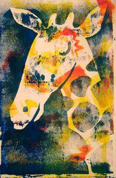 Giraffe Art Print by mattchinworth | Society6
