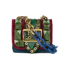 BURBERRY Gemstone-studded pony-hair and leather cross-body bag ❤ liked on Polyvore featuring bags, handbags, shoulder bags, burberry shoulder bag, green leather handbag, leather purses, leather shoulder bag and burberry handbags