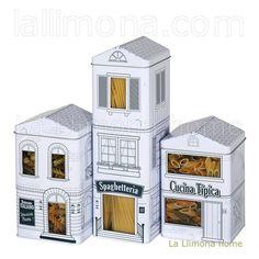 Cajas metálicas cocina para guardar pasta, galletas... http://www.lallimona.com/online/hogar/