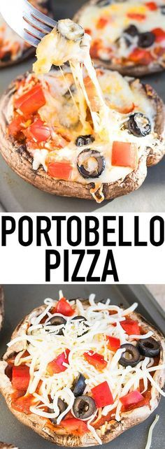 Quick and easy PORTOBELLO MUSHROOM PIZZA ready in 20 minutes. This vegan, gluten free pizza is a low carb and healthy alternative to regular pizza. From cakewhiz.com