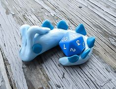 Blue Dragon, Dice Holder, Dragon Dice Holder, Dungeons and Dragons, D20 Holder, Dragon Figure, Roleplay accessory, Geekery dragon