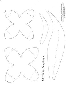 To make the tulips download this template I created for the petals and ...
