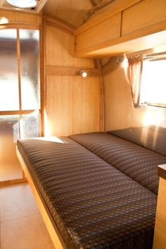 Pull-out bed in Airstream