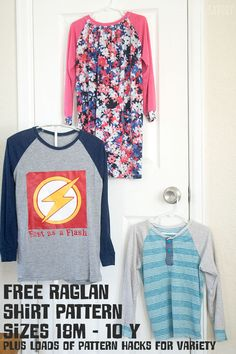Sewing Men Clothes free raglan shirt pattern sizes for boys and girls from Life Sew Savory - Raglan Shirts, T-shirt Raglan, T Shirts, Boys Sewing Patterns, Clothing Patterns, Shirt Patterns, Kids Patterns, Dress Patterns, Sewing Kids Clothes