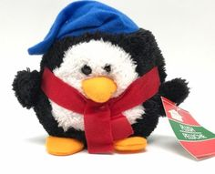 Penguin In Blue Hat Red Scarf Stuffed Animal Toy Christmas House Plush  New Penguin  Plush Stuffed Animal Toy  Condition: New  Details: Measures  5x6 inch (Sizes are approximate.)  Great item for a gift  Perfect for Collectors  For Any Age  New, purchased for resale by Keywebco  Video inspected when shipped  Ships Fast and Free from the USA  The item for sale is pictured and described on this page.  The stock photo may include additional items for display purpose only - which will not be…