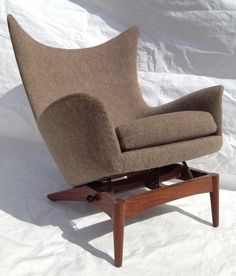 Mid Century Modern Danish Bramin H w Klein Sculptural Wingback Reclining Chair | eBay & Iconic Eames airport chairs reupholstered in Edelman world-class ... islam-shia.org