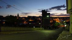 Entardecer visto da Rua Santos Dumont em Porto União.