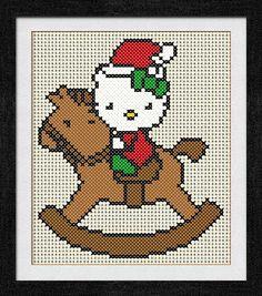 """Gráfico para punto de cruz de """"Hello Kitty en Caballito""""."""