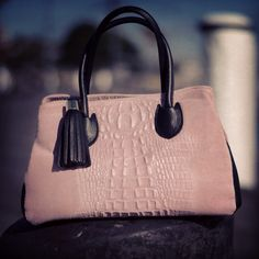 Sophia Top Handle Leather Bag with tassel                      @ www.bidinis.com
