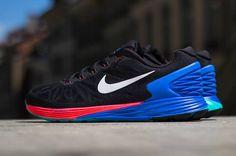 Nike Lunarglide 6   Black / White   Hyper Cobalt   Hyper Punch