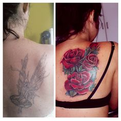 Tattoo Cover up #red #roses #tattoo