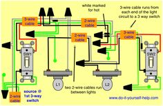 Wiring diagram for multiple light fixtures diy vanity mirror wiring recessed lights in series with threeway way and 4 way wiring for multiple lights asfbconference2016 Gallery