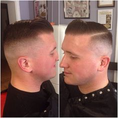 Mid fade side part Very Short Haircuts, Cool Haircuts, Haircuts For Men, Men's Haircuts, Short Buzz Cut, Short Hair Cuts, Short Hair Styles, Tapered Haircut, Fade Haircut